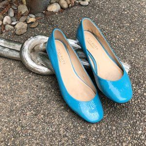 Talbots Turquoise Patent Leather Ballet Flat